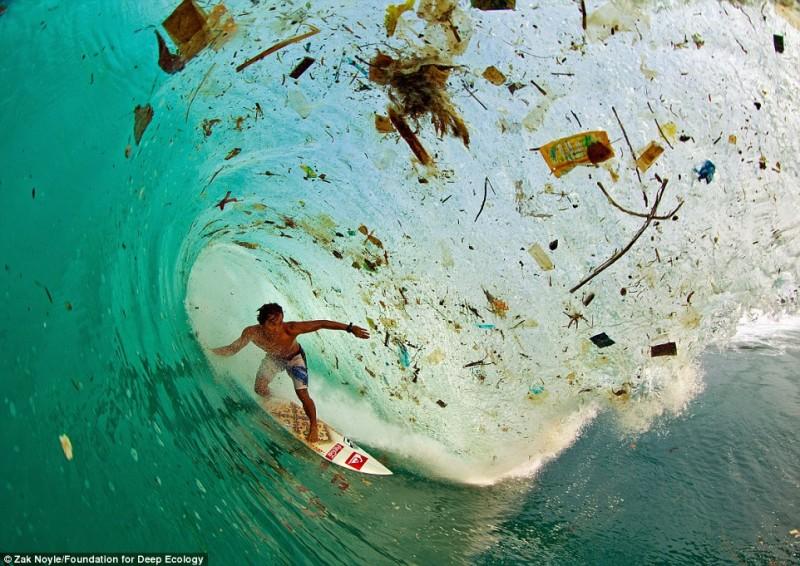 onda di rifiuti